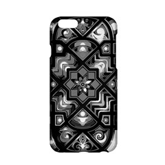 Geometric Line Art Background In Black And White Apple iPhone 6/6S Hardshell Case