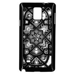 Geometric Line Art Background In Black And White Samsung Galaxy Note 4 Case (Black)