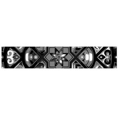 Geometric Line Art Background In Black And White Flano Scarf (large)
