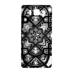 Geometric Line Art Background In Black And White Samsung Galaxy Alpha Hardshell Back Case