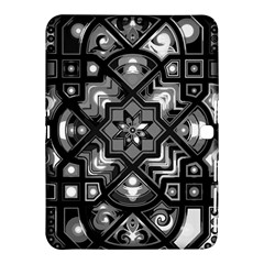 Geometric Line Art Background In Black And White Samsung Galaxy Tab 4 (10.1 ) Hardshell Case
