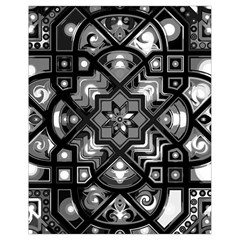 Geometric Line Art Background In Black And White Drawstring Bag (small)