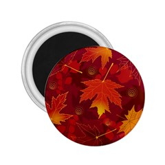 Autumn Leaves Fall Maple 2 25  Magnets