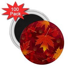 Autumn Leaves Fall Maple 2 25  Magnets (100 Pack)