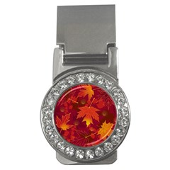 Autumn Leaves Fall Maple Money Clips (cz)