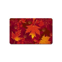 Autumn Leaves Fall Maple Magnet (Name Card)