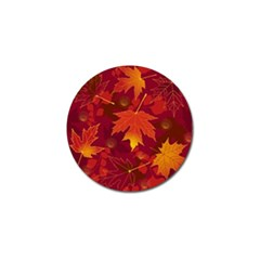 Autumn Leaves Fall Maple Golf Ball Marker