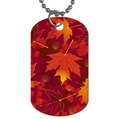 Autumn Leaves Fall Maple Dog Tag (two Sides)