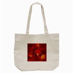 Autumn Leaves Fall Maple Tote Bag (cream)