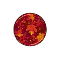 Autumn Leaves Fall Maple Hat Clip Ball Marker