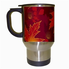 Autumn Leaves Fall Maple Travel Mugs (White)