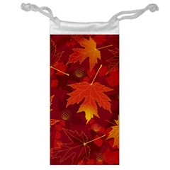 Autumn Leaves Fall Maple Jewelry Bag