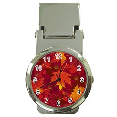 Autumn Leaves Fall Maple Money Clip Watches