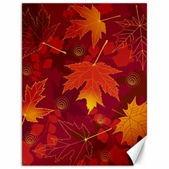 Autumn Leaves Fall Maple Canvas 12  X 16