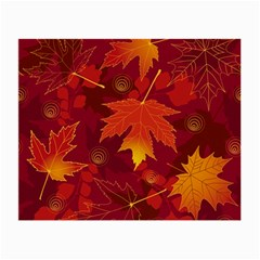 Autumn Leaves Fall Maple Small Glasses Cloth (2 Side)