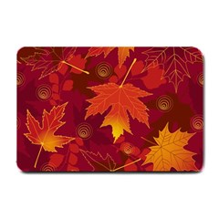 Autumn Leaves Fall Maple Small Doormat