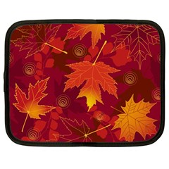 Autumn Leaves Fall Maple Netbook Case (large)