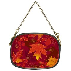 Autumn Leaves Fall Maple Chain Purses (One Side)