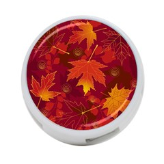 Autumn Leaves Fall Maple 4 Port Usb Hub (two Sides)