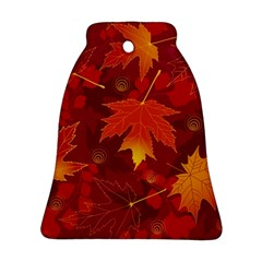 Autumn Leaves Fall Maple Bell Ornament (two Sides)