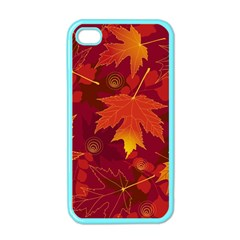 Autumn Leaves Fall Maple Apple iPhone 4 Case (Color)