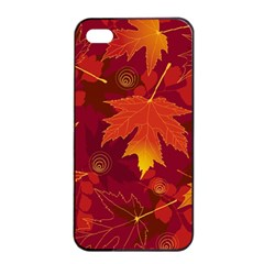 Autumn Leaves Fall Maple Apple Iphone 4/4s Seamless Case (black)