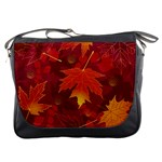 Autumn Leaves Fall Maple Messenger Bags Front