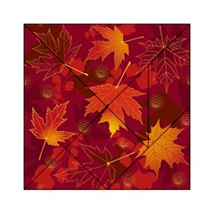 Autumn Leaves Fall Maple Acrylic Tangram Puzzle (6  x 6 )