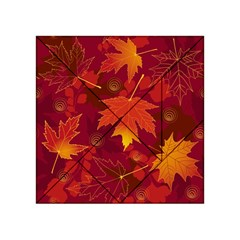 Autumn Leaves Fall Maple Acrylic Tangram Puzzle (4  x 4 )
