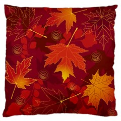 Autumn Leaves Fall Maple Large Cushion Case (One Side)