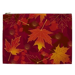 Autumn Leaves Fall Maple Cosmetic Bag (xxl)