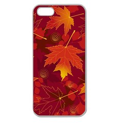 Autumn Leaves Fall Maple Apple Seamless iPhone 5 Case (Clear)