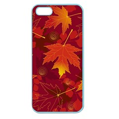 Autumn Leaves Fall Maple Apple Seamless iPhone 5 Case (Color)