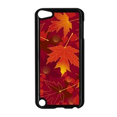 Autumn Leaves Fall Maple Apple Ipod Touch 5 Case (black)