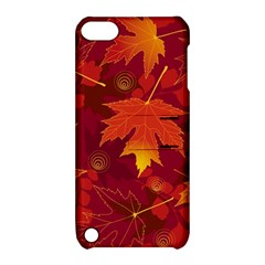 Autumn Leaves Fall Maple Apple Ipod Touch 5 Hardshell Case With Stand