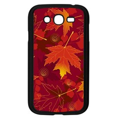 Autumn Leaves Fall Maple Samsung Galaxy Grand DUOS I9082 Case (Black)