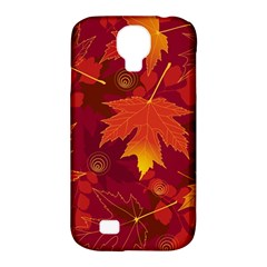 Autumn Leaves Fall Maple Samsung Galaxy S4 Classic Hardshell Case (PC+Silicone)