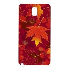 Autumn Leaves Fall Maple Samsung Galaxy Note 3 N9005 Hardshell Back Case