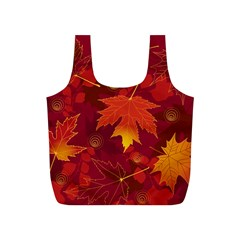 Autumn Leaves Fall Maple Full Print Recycle Bags (S)