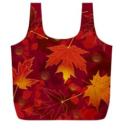 Autumn Leaves Fall Maple Full Print Recycle Bags (L)