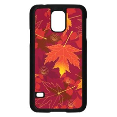 Autumn Leaves Fall Maple Samsung Galaxy S5 Case (Black)