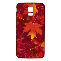 Autumn Leaves Fall Maple Samsung Galaxy S5 Back Case (White)