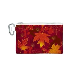 Autumn Leaves Fall Maple Canvas Cosmetic Bag (s)