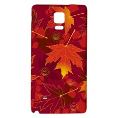 Autumn Leaves Fall Maple Galaxy Note 4 Back Case