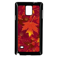 Autumn Leaves Fall Maple Samsung Galaxy Note 4 Case (Black)