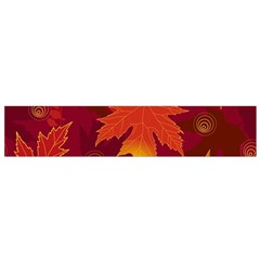 Autumn Leaves Fall Maple Flano Scarf (Small)