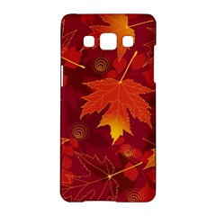 Autumn Leaves Fall Maple Samsung Galaxy A5 Hardshell Case