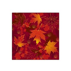 Autumn Leaves Fall Maple Satin Bandana Scarf