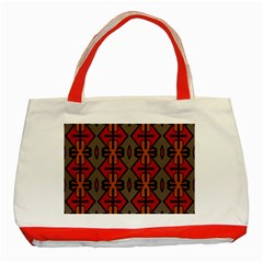 Seamless Pattern Digitally Created Tilable Abstract Classic Tote Bag (Red)