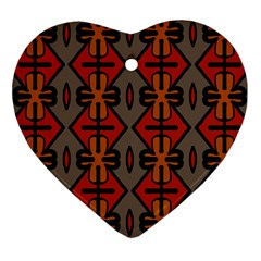 Seamless Pattern Digitally Created Tilable Abstract Heart Ornament (two Sides)